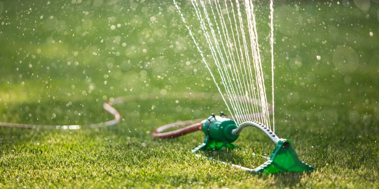 Watering a lawn with restrictions in place